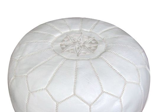 MOROCCAN POUFS LEATHER MANY COLOURS