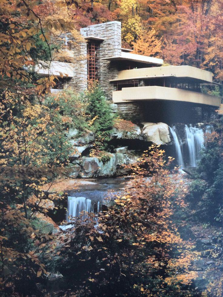 Falling Water Textbook Wright Exterior Pinterest