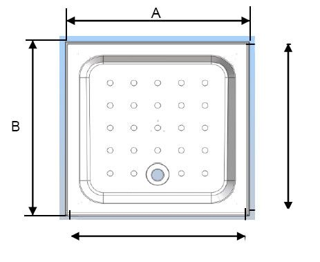 Coram Square Shower Tray with 4 Upstands & Waste - 3 Size Options at Victorian Plumbing UK