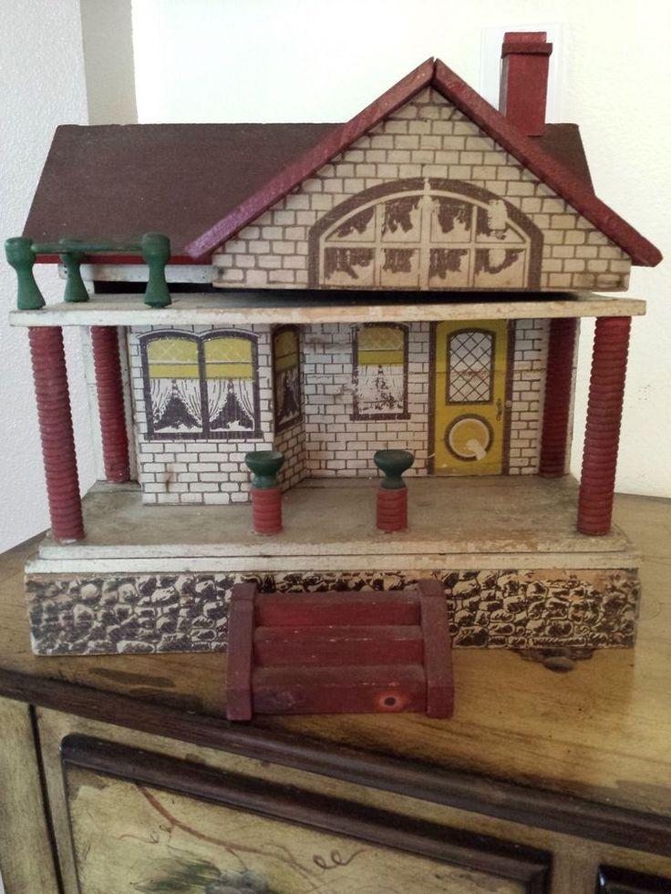 Antique Converse Cass Dollhouse CA 1913 1916   eBay .....Rick Maccione-Dollhouse Builder www.dollhousemansions.com