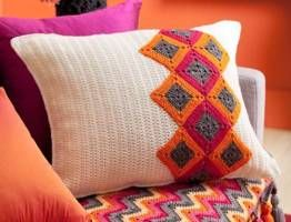 How to make a square crochet cushion