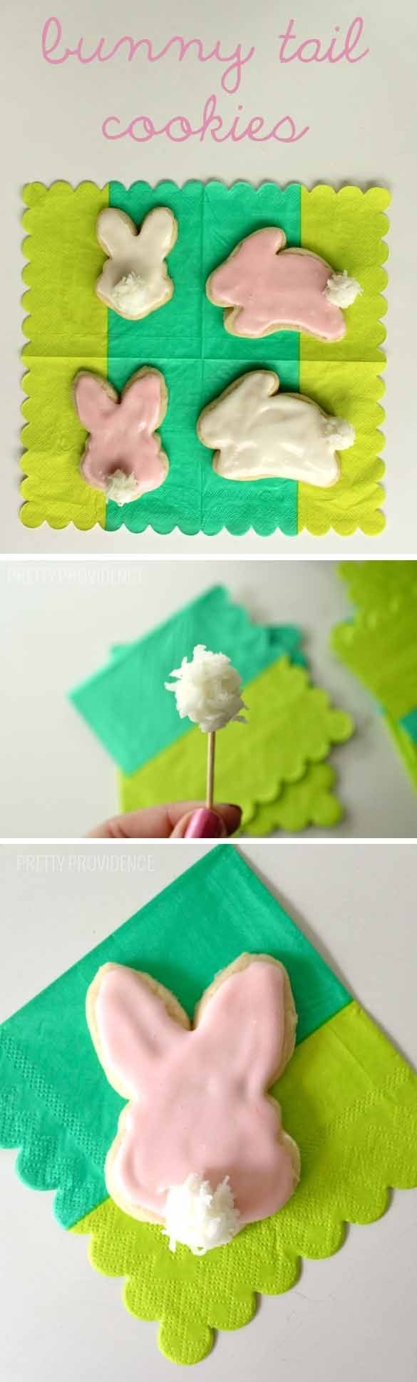 How adorable are these DIY bunny tail cookies? I made them last year for an Easter Party and all the littles LOVED them!