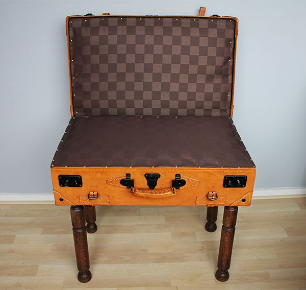 DIY suitcase chair tutorial - read about it on Fabulous Finnish | Fabulous Finnish
