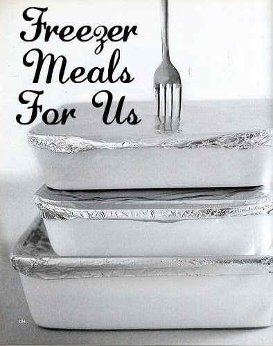 freezer meals - a blog dedicated to sharing freezer meals. Perfect reference for making meals for new moms or those who are sick.