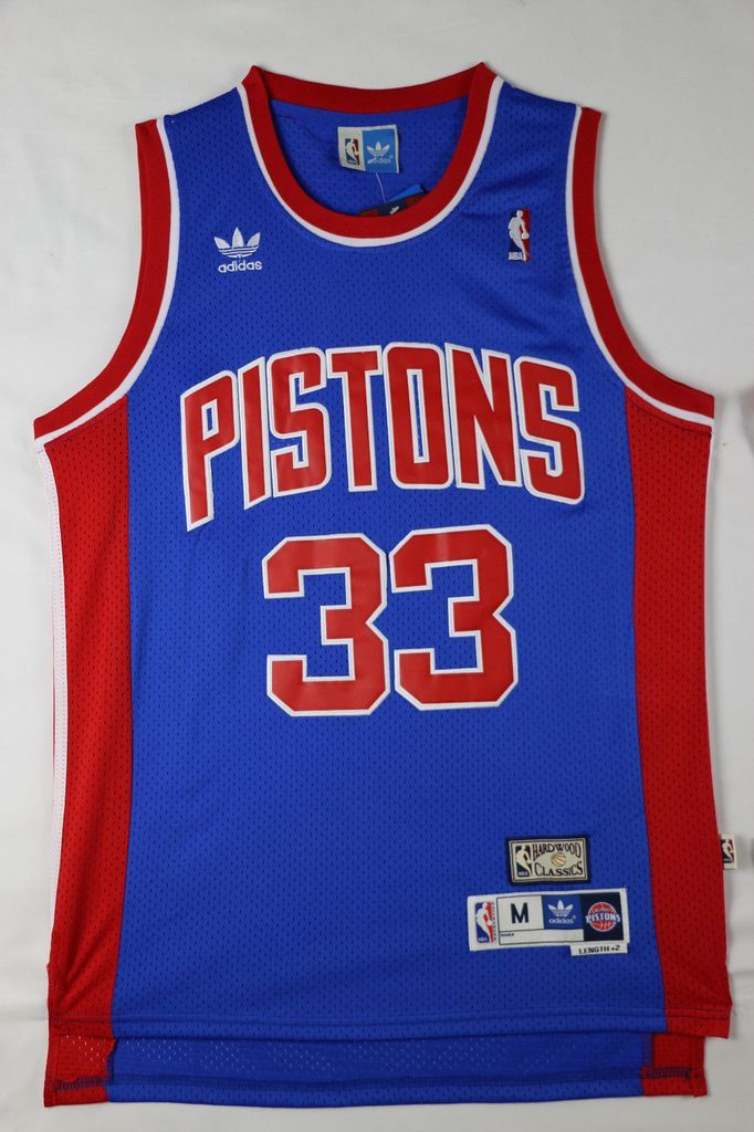 76394d212419 Men 33 Grant Hill Jersey Blue Detroit Pistons Jersey Swingman Fanatics