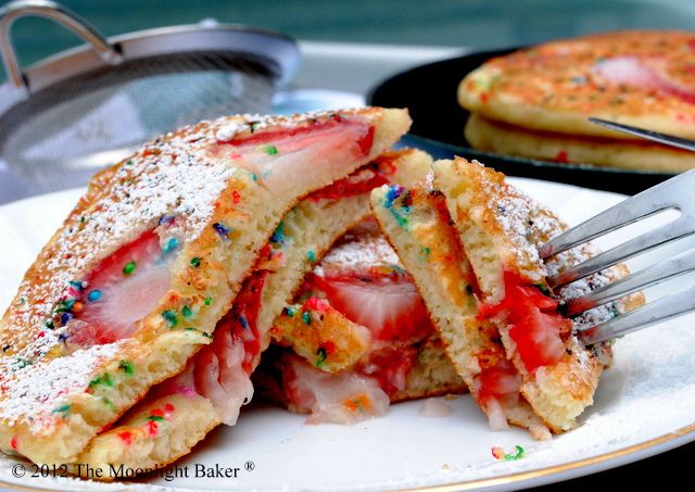Image result for Strawberry sprinkle pancakes