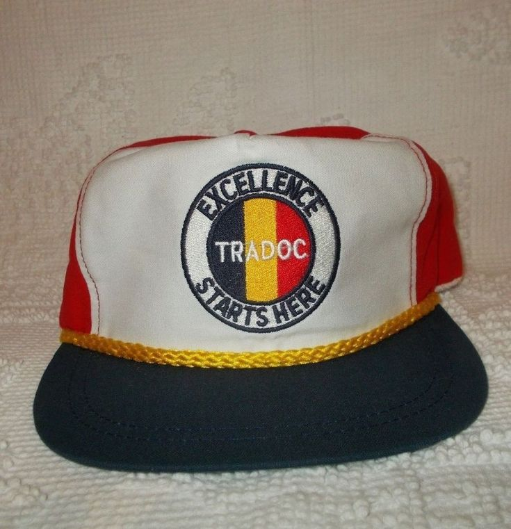 Vtg TRADOC Excellence Starts Here US Army Training and Doctrine Command Hat Cap #Army