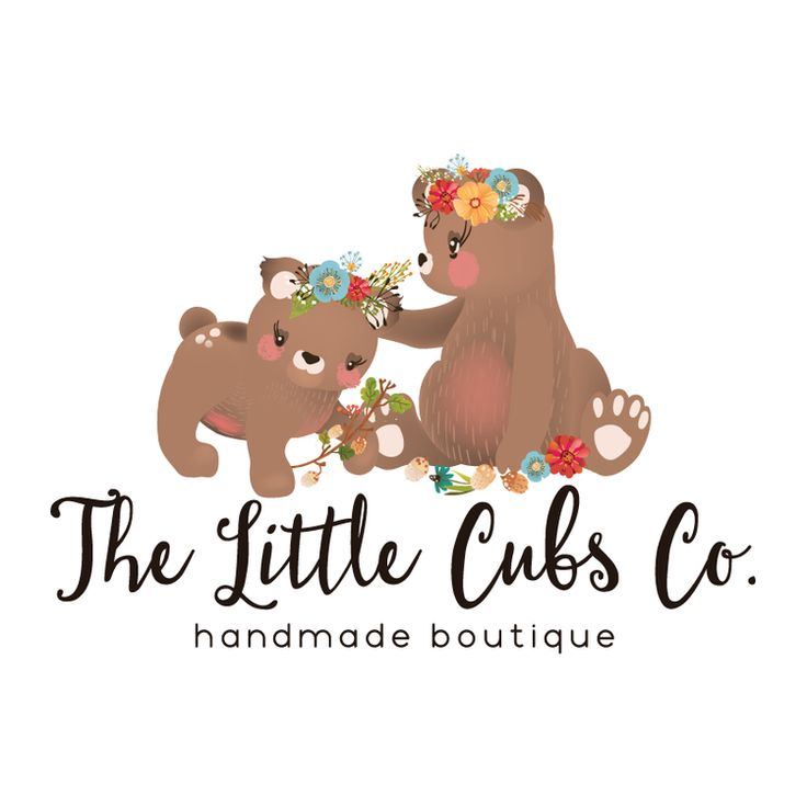 Sweet Bears Premade Logo Design - Customized with Your Business Name!