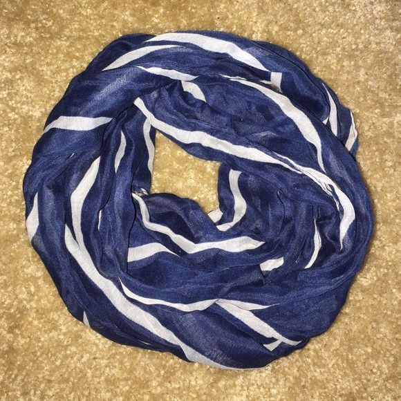Blue and White Scarf Blue and white scarf. Accessorize with a simple yet catchy scarf. Accessories Scarves & Wraps