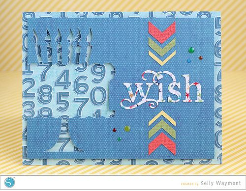 Cake Cut-Out Card by Kelly Wayment by krafting kelly, via Flickr