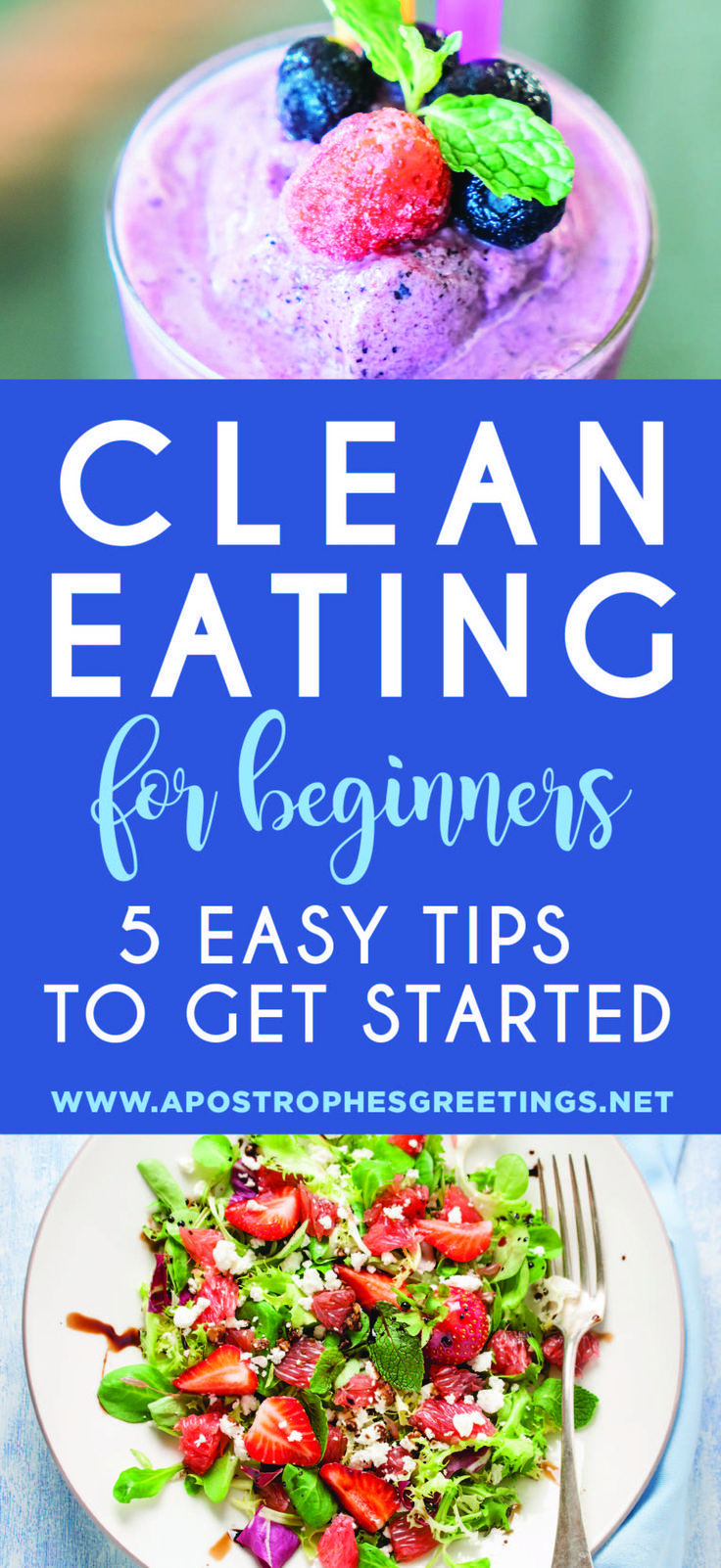 5 Easy ways to start eating clean and make it a realistic and successful lifestyle.