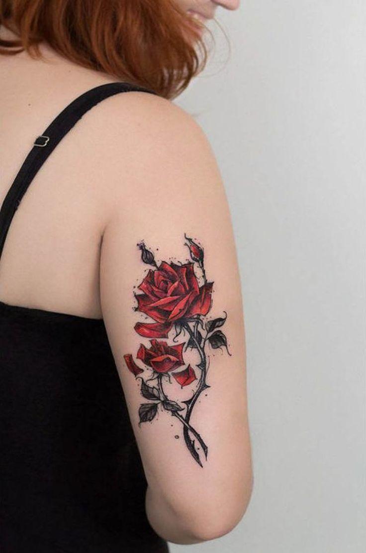 1574 best rose tattoos images on pinterest | flower wrist tattoos