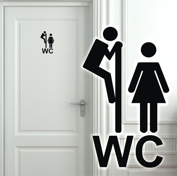 Wandtattoo Türaufkleber WC Toilette Badezimmer Flur Aufkleber Tür Klo Sprüche 5h | eBay