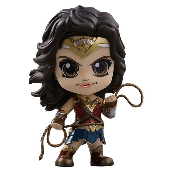 Set months after the events of Batman v Superman and inspired by Superman's sacrifice for humanity, Bruce Wayne and Diana Prince assemble a team of metahumans consisting of Barry Allen, Arthur Curry and Victor Stone to face the catastrophic threat of Steppenwolf and his army of Parademons, who are on the hunt for three Mother Boxes on Earth.  This Cosbaby figure features the Amazon Princess, Wonder Woman, ready to capture some villains with her Lasso of Truth.  Approx. 9.5cm tall.
