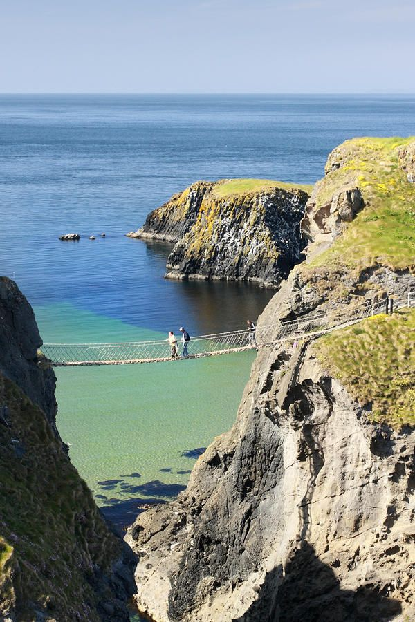Carrick-a-Rede rope bridge - Northern Ireland, still can't believe I crossed that bridge!!