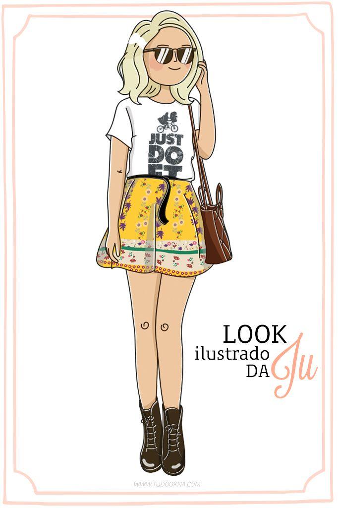 Look ilustrado da Ju: JUST DO ET