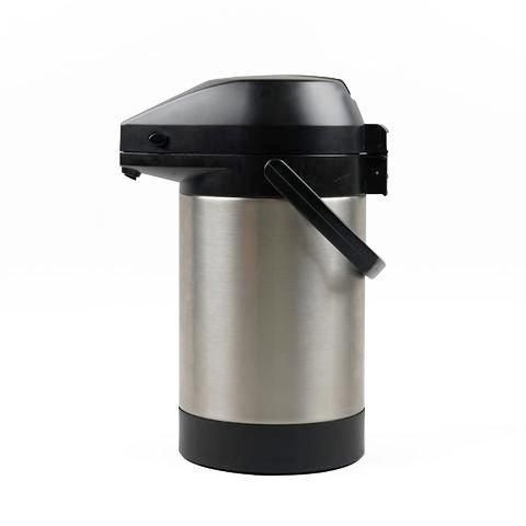 The stainless steel airpot is an efficient way to keep your coffee fresh at brew temperature.  A separate airpot can be used for those times a larger quantity of hot coffee is required or an addition to Moccamaster with glass server or thermo carafe.