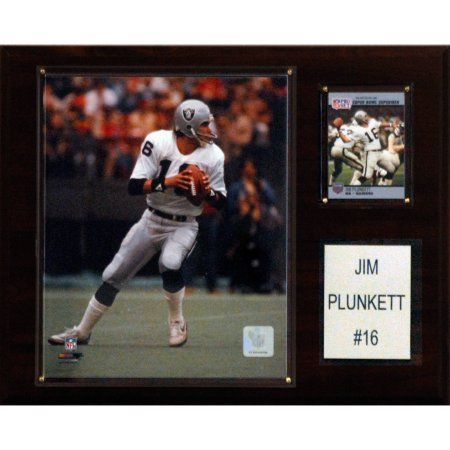 C Collectables NFL 12x15 Jim Plunkett Oakland Raiders Player Plaque
