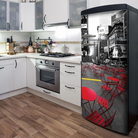 Недорогие и интересные способы обновить старый холодильник