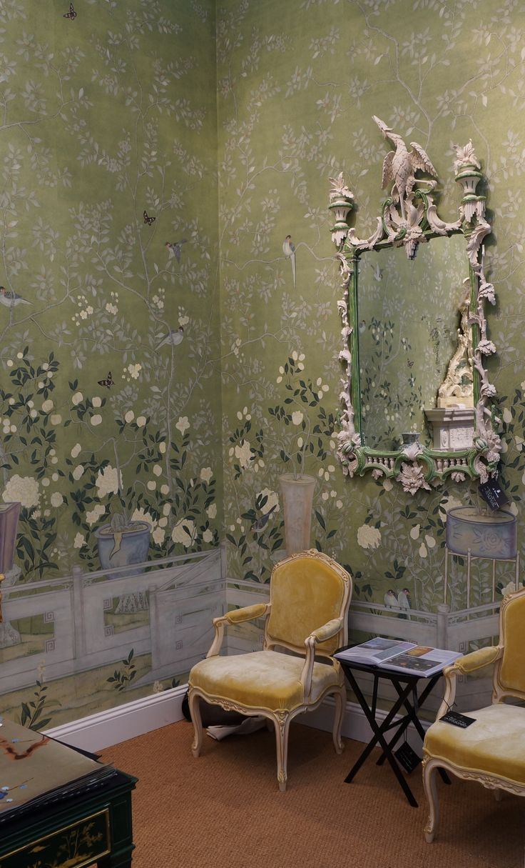 28 best my love of de gournay images on pinterest for Chinoiserie wallpaper mural