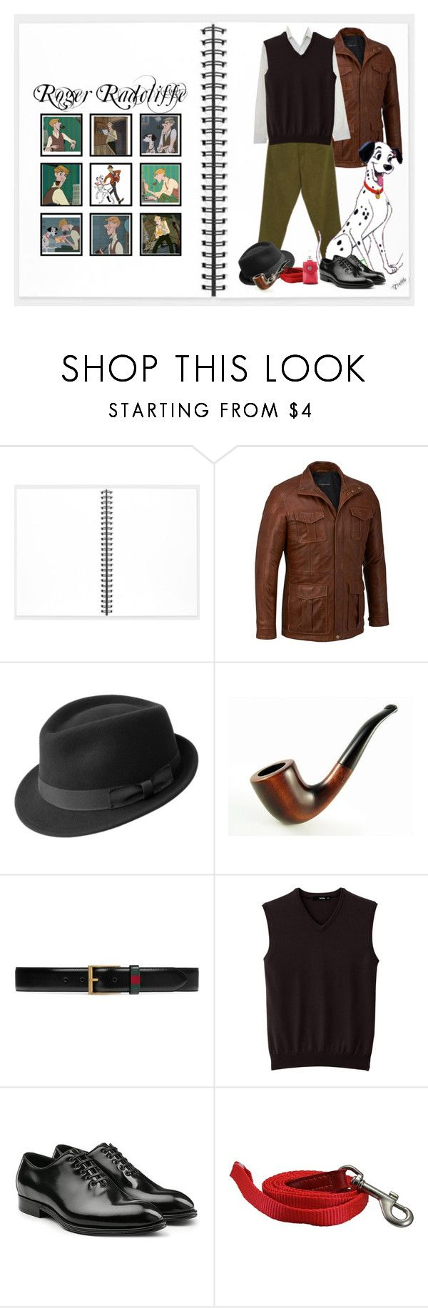 """""""Roger Radcliff (1696)"""" by trufflelover ❤ liked on Polyvore featuring Muji, Wilsons Leather, Bailey, Radcliffe, Gucci, Dolce&Gabbana, Pottery Barn, men's fashion and menswear"""
