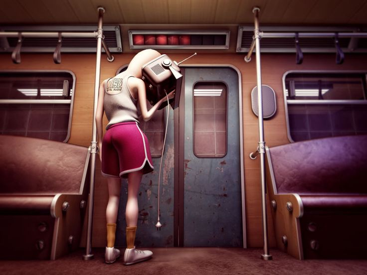 How to deal with the awkward subway ride when its too crowded (or not) :)