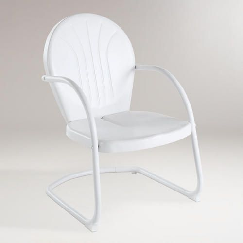 One of my favorite discoveries at WorldMarket.com: White Durresi Metal Chair