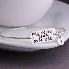 Minha história não é sobre ainda pulseira, Ponto e vírgula pulseira e colar ponto e vírgula, Saúde Mental jóias consciência YPQ0520(China (Mainland))