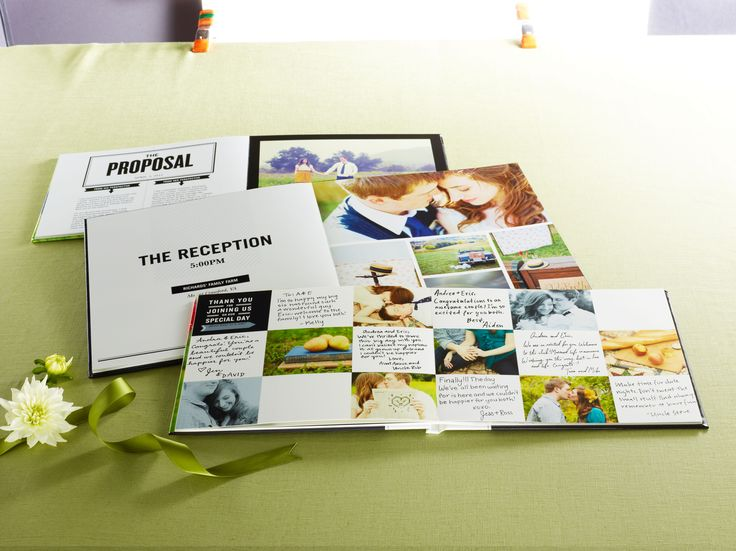 Celebrate the wedding memories in a variety of creative ways within the pages of your photo book   Shutterfly.com