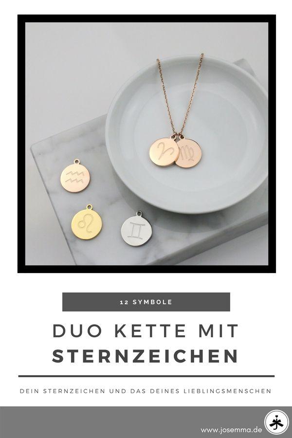 Sternzeichen Duo Gravur Münzkette In 2018 Ketten Pinterest