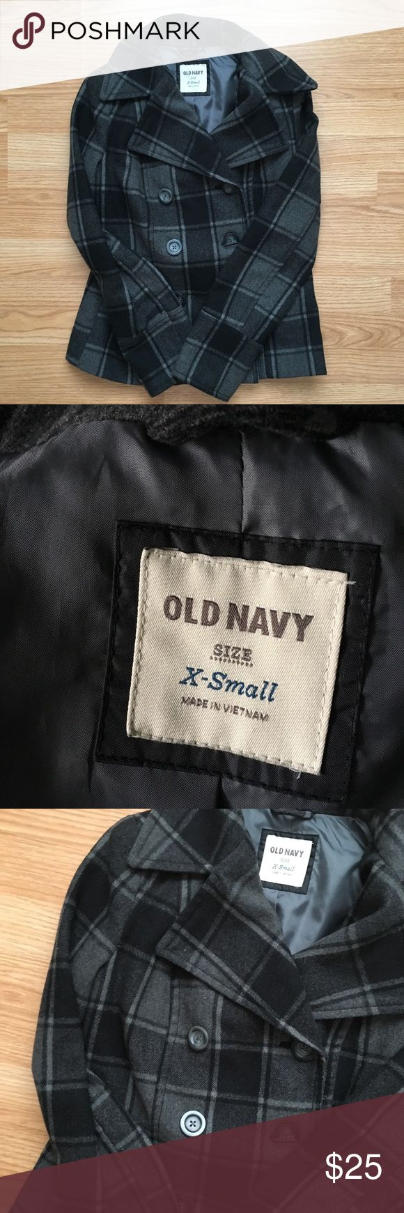 """Old Navy Pea Coat Pre-loved. Because of my geographic location, this was hardly used.  Shoulders : 14.5"""" Bust: 32"""" Length: 23"""" Old Navy Jackets & Coats Pea Coats"""