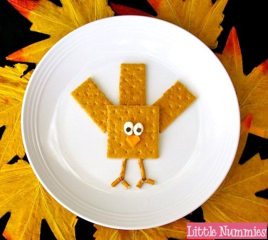 HAPPY NOVEMBER!!!! Time for all things autumn and Thanksgiving!!! This is one of my favorite times of year!! Starting things off right with a kids snack that you can whip up in a snap. GRAHAM GOBBL...