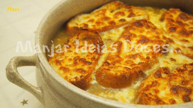 Sopa de cebola gratinada  (French onion soup) - http://gostinhos.com/sopa-de-cebola-gratinada-french-onion-soup/