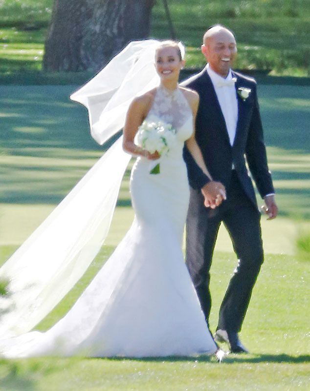 Derek Jeter, Hannah Davis, Wedding. Model Hannah Davis, 26, married the 42-year-old retired New York Yankees star Saturday in front of family and friends in an outdoor ceremony at the Meadowood Napa Valley Resort in St. Helena, California. She walked down the aisle in a custom Vera Wang mermaid bridal gown