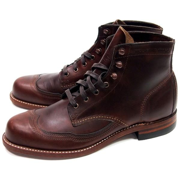 2227ad99228 Wolverine Addison 1000 Mile Wingtip Boots - Brown - Made in USA di ...