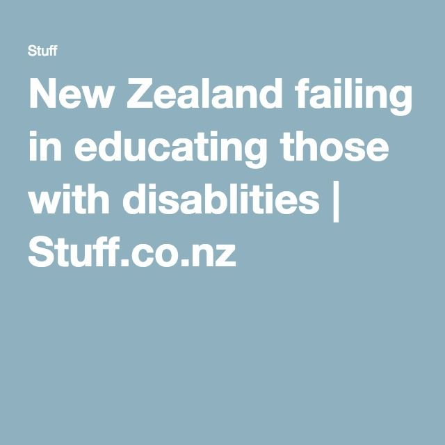 New Zealand failing in educating those with disablities | Stuff.co.nz An article from a newspaper - what more can be done?  Where does the government need to ensure money is being spent?  All questions to be reflected on as professionals in specialist teaching areas because as the 'face' of this organisation we often get these questions poised to us in the field.