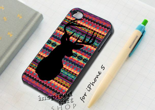 head deer chevron - design case for iPhone