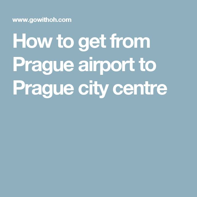 How to get from Prague airport to Prague city centre - bus 119