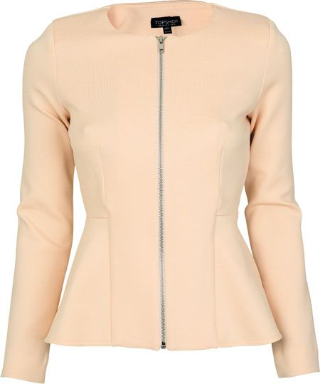 Create shape with a peplum detail spring bomber jacket - R829, Topshop