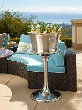 Optima Beverage and Ice Tub and Stand traditional barware