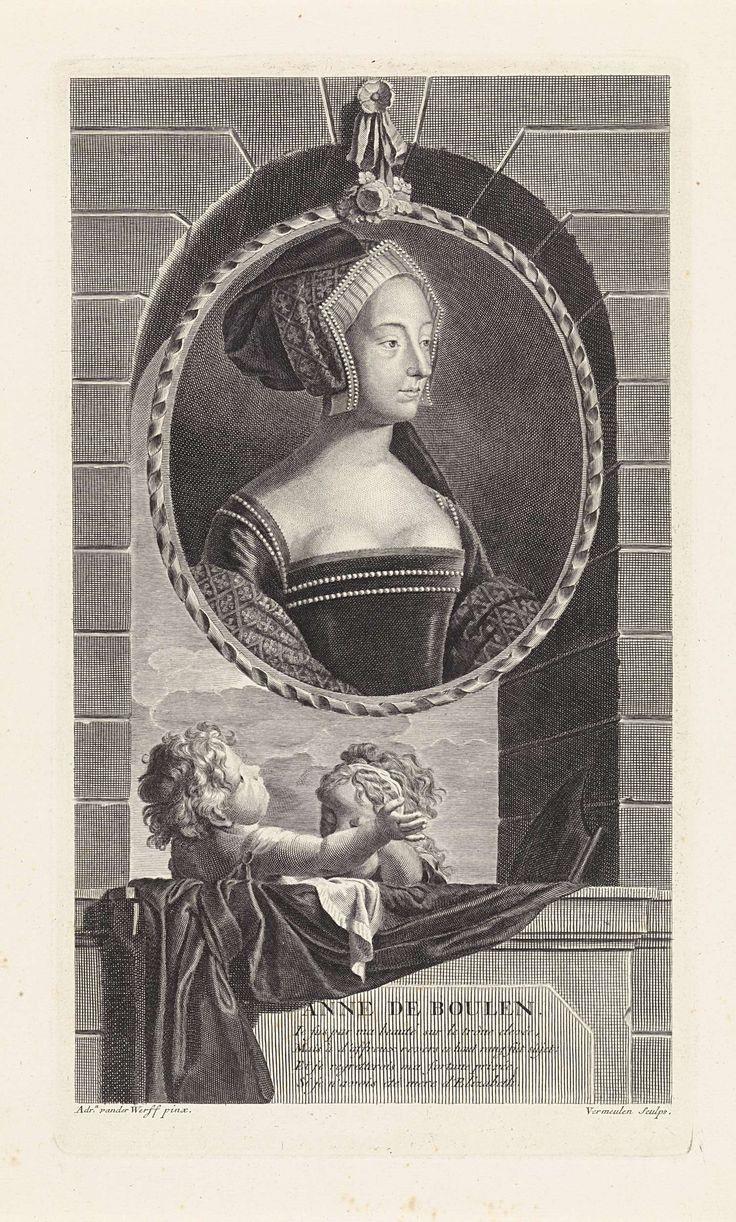 Cornelis Martinus Vermeulen   Portret van Anna Boleyn, koningin van Engeland, Cornelis Martinus Vermeulen, 1697  