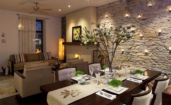 Awesome Dining Rooms From Hulsta: Unique Dining Rooms With Brick Wall