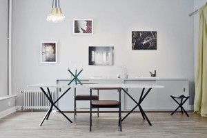 NEB Rectangular table with marble top 240x100 cm • NoEarlyBirds - Per Söderberg…