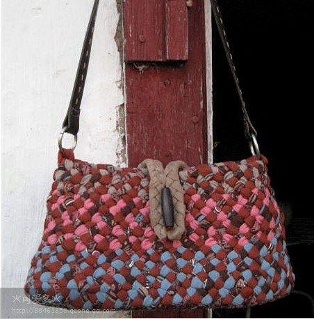Como hacer bolsos de trapillo medidas tecnicas e ideas for Bolso crochet trapillo