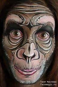 Résultat d'images pour how to face paint a monkey #HowtoFacePaint