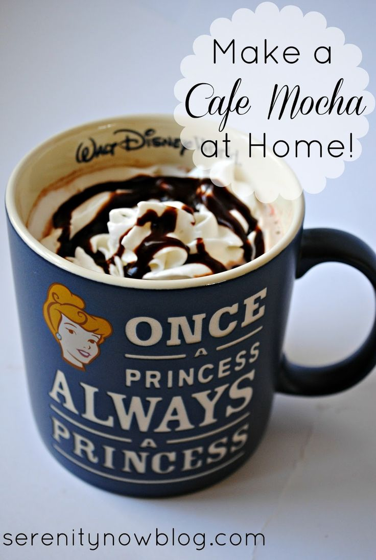 Deeelish homemade-easy-to-make Cafe Mocha! (creds: Serenity Now): http://www.serenitynowblog.com/2013/02/how-to-make-cafe-mocha-at-home-drink.html