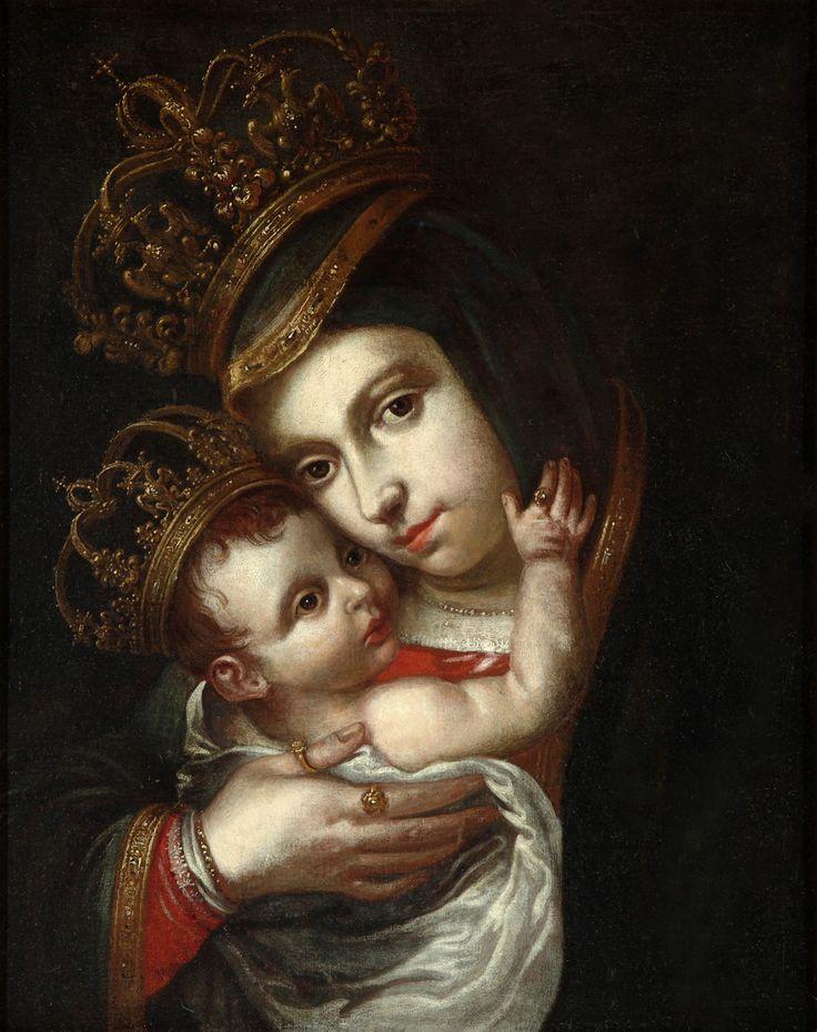 Anónimo (José de Alcíbar atrib.), Virgen del Refugio, óleo sobre tela, 57 x 45.5 cm., ca. 1760-90, colección particular, catalogación: Juan Carlos Cancino.
