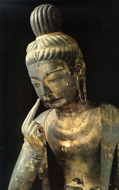 広隆寺の「泣き弥勒」
