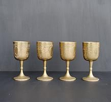 Brass goblets for hire for weddings and events