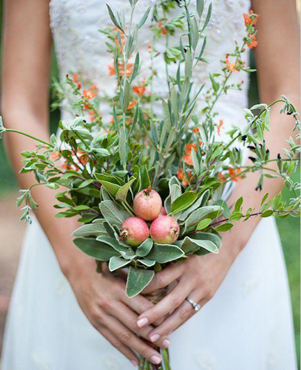 herbal bridal bouquet